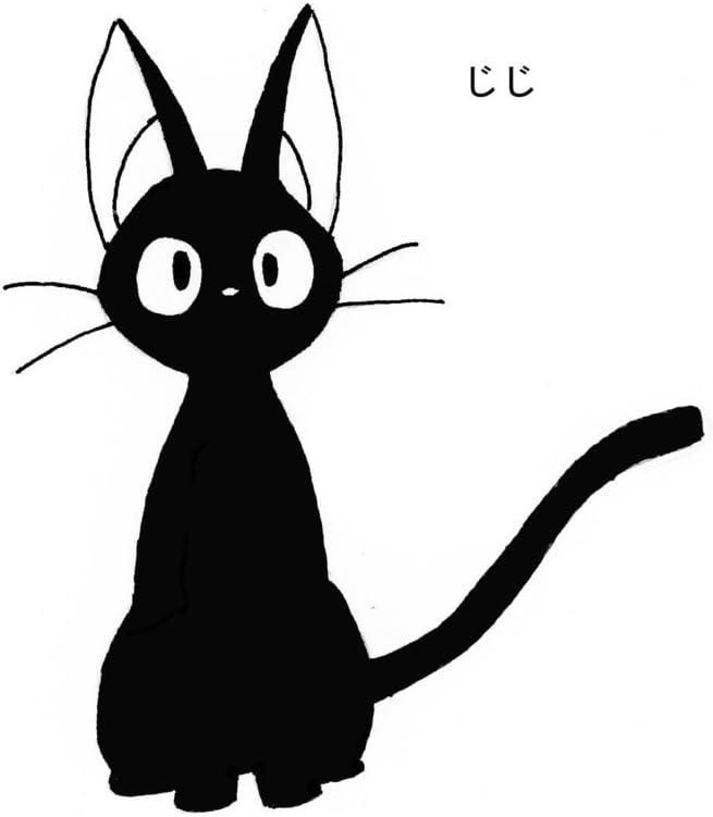 Amazon Com Studio Ghibli Kiki S Delivery Service Black Cat Logo Vinyl Stickers Symbol 5 5 Decorative Die Cut Decal For Cars Tablets Laptops Skateboard Black Computers Accessories