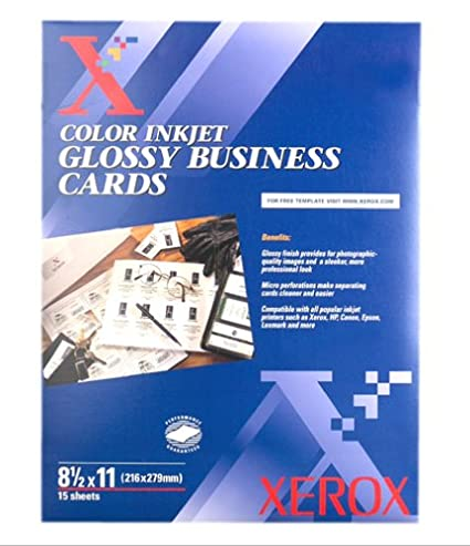 Amazon Com Xerox 3r5767 Color Inkjet Glossy Business Cards Office