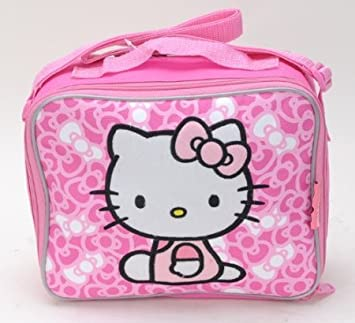 Amazon.com   Sanrio Combo Set - Hello Kitty Lunch Bag with Strap and Hello  Kitty Wallet Set   Baby fb20857e8594b