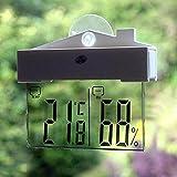 Vitoki LCD Digital Window Thermometer Hygrometer Indoor/Outdoor Temperature Humidity Meter