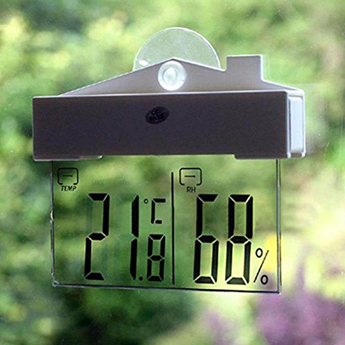 Vitoki LCD Digital Window Thermometer Hygrometer Indoor/Outdoor Temperature Humidity Meter by Vitoki