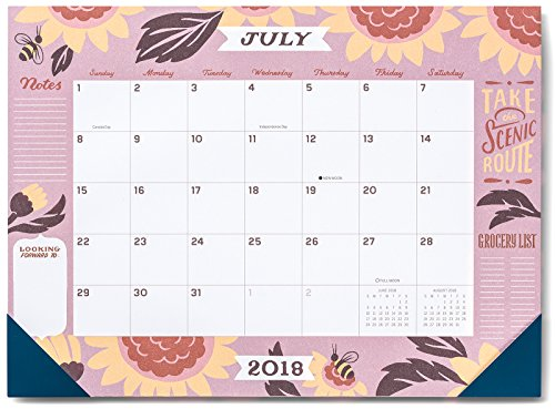 Price comparison product image High Note® 2019 Jill De Haan Deluxe 18-Month Desk Pad Planner Calendar- July 2018 to December 2019,  18.75 x 13.75; (CHX-0579)