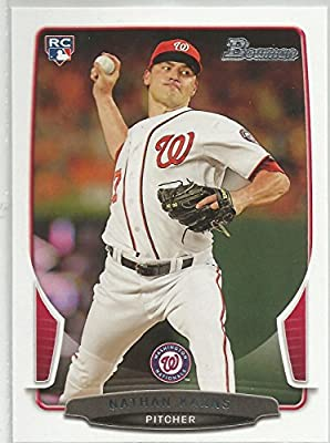 2013 Bowman #3 Nathan Karns Washington Nationals Rookie Card