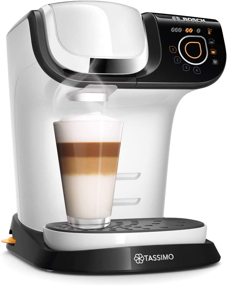 Bosch TAS6004 Tassimo My Way Cafetera de cápsulas,1500 W, color blanco: Amazon.es: Hogar
