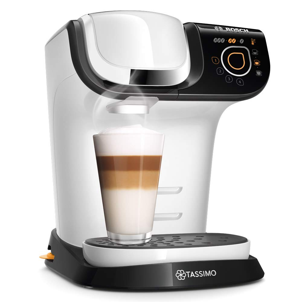Bosch TAS6004 Cafetera automática, color blanco, 1500 W, 1.3 litros, Acero Inoxidable