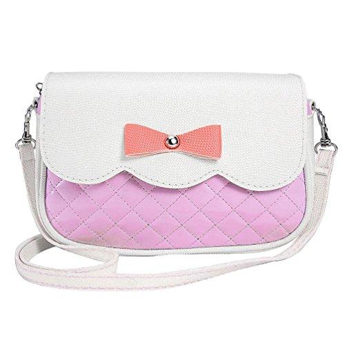 Una Varietà Di Rosa Signore Tracolla Bag VICGREY Ragazze Serie Borsa Elegante E Bow Messenger Colori Carino A Moda vqUwzP