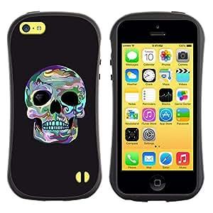 """Pulsar iFace Series Tpu silicona Carcasa Funda Case para Apple iPhone 5C , Cráneo Surf gris fresco de la Muerte cuenca del ojo"""""""