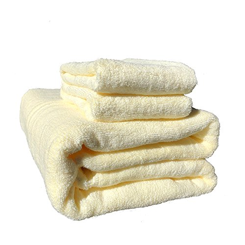 PACKALL Over 1000 GSM Premium Cottocn Extra Large Bath Towels Set (36 x 71 Inch) Luxury Bathroom Bath Sheets 4-Extra - Extra Large Extra Soft, Extra Thick & Extra Durable (Cream White) by PACKALL