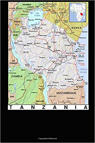 Modern Day Color Map Of Tanzania In Africa Journal Take Notes