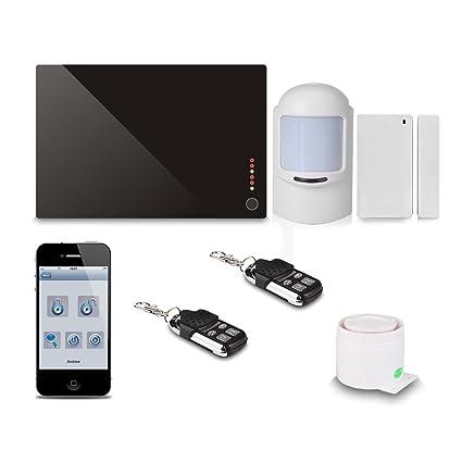 FLOUREON® Sistema de Alarma Inalámbrica GSM Antirrobo [ iOS App y Android ]
