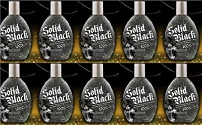 Millenium Tanning Solid Black Bronzer Lotion, 10 Count