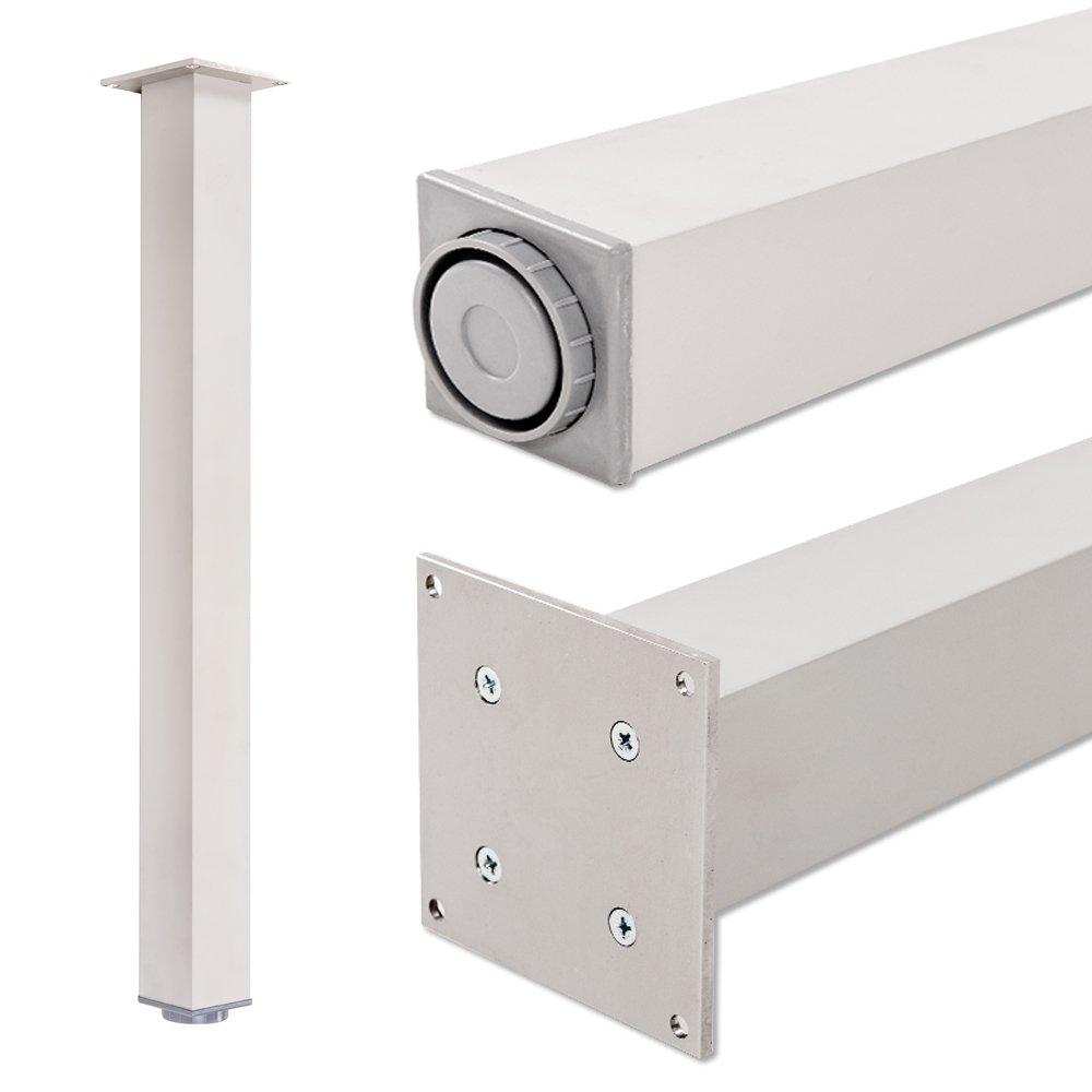 Altura regulable 710 mm 100/% aluminio 20 mm Juego de patas extensibles de mesa Incluidos accesorios de montaje Set de 4 unidades Perfil: plaza Sossai Exclusivo E4TBAL