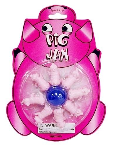 PIG JAX game mania Rubber Ball pass the Jacks toy doll ho...