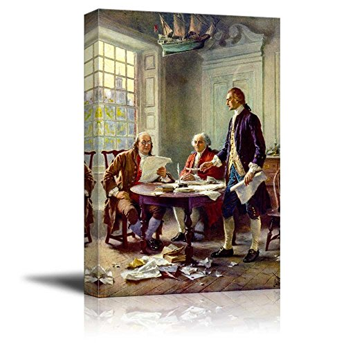 Writing the Declaration of Independence by Jean Leon Gerome Ferris Print Famous Painting Reproduction