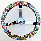 Mana Trading Handmade Steering Wheel Cover Folkloric Floral Flowers
