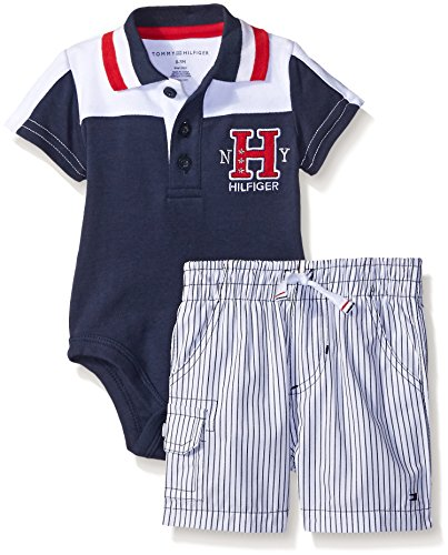 Tommy Hilfiger Baby Boys' Solid Interlock Bodysuit and Wo...