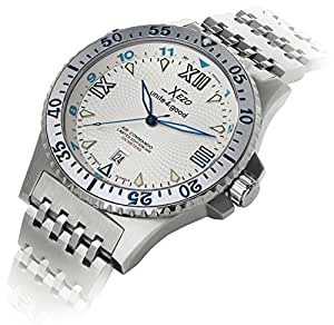 Xezo men s air commando japanese automatic diver s watch d45 ss xezo watches for Xezo watches