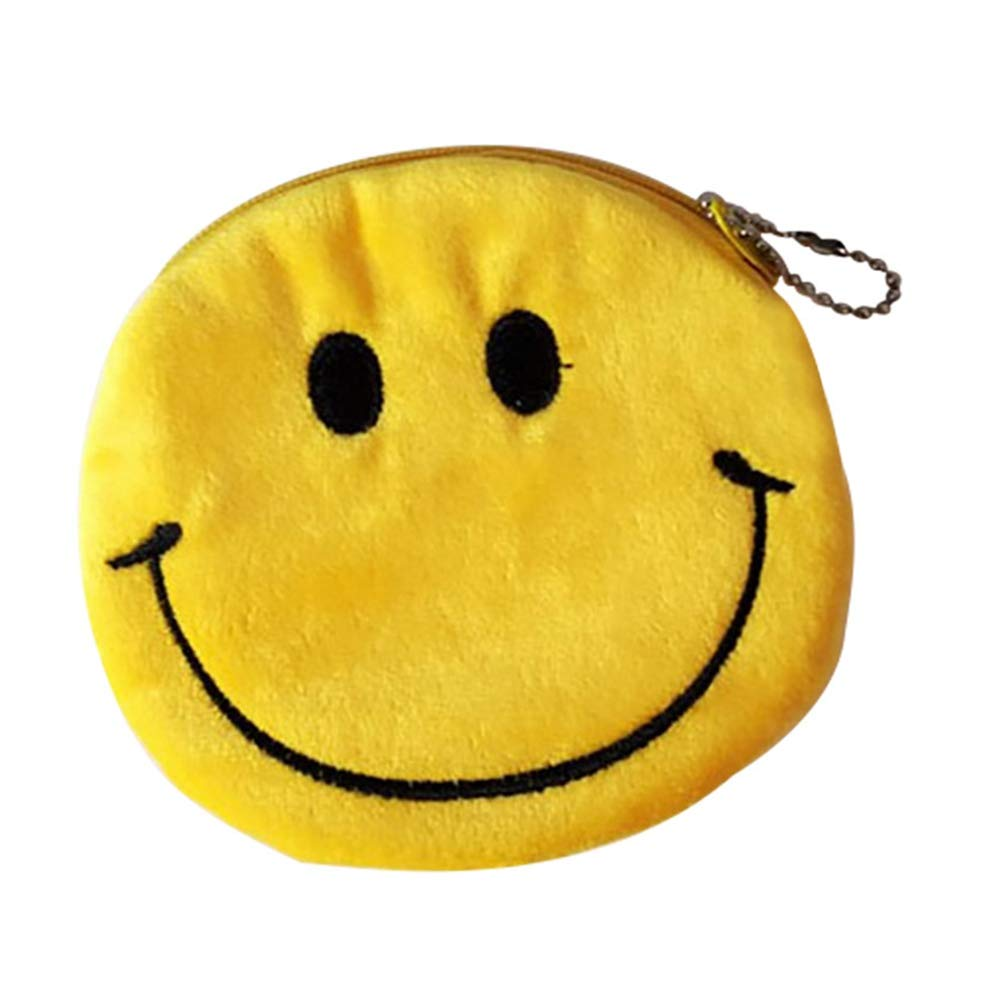 Haushele OFD Japon Harajuku Zipper Childlike Classic Cute Yellow Petit Porte-Monnaie en Peluche H01