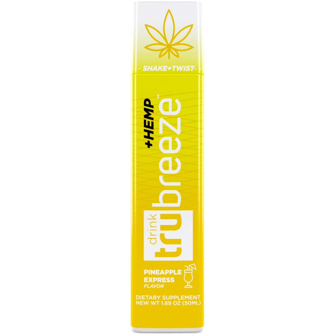 Tru Breeze Drink - Natural Keto Relaxation Supplement Plus Hemp - Flavored Pineapple Express (12) by TruEnergy
