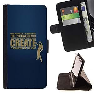 For Samsung Galaxy S4 IV I9500 Case , Su personalidad Mensaje Profundo- la tarjeta de Crédito Slots PU Funda de cuero Monedero caso cubierta de piel