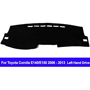 AUCD Car Dashboard Cover Dash Mat Dash Pad DashMat Carpet for Toyota Corolla E140/E150 2006 2007 2008 2009 2010 2011 2012 2013