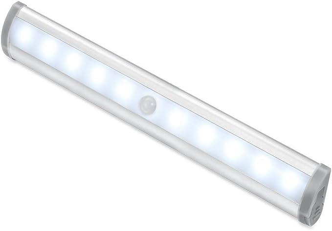 Licht Sensor LED Nachtlicht batteriebetriebene Schrank PIR Bewegungs u