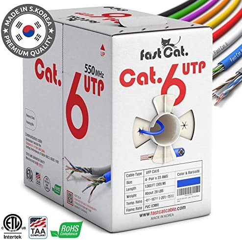 fastCat Cat6 Ethernet Cable 1000ft product image