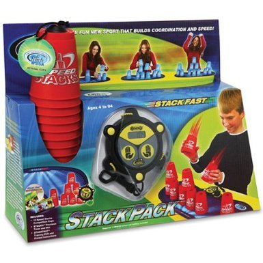 Speed Stacks Stack Pack - 12 RED Competition Cups with DVD, Precision Timer and Mat by Speed Stacks