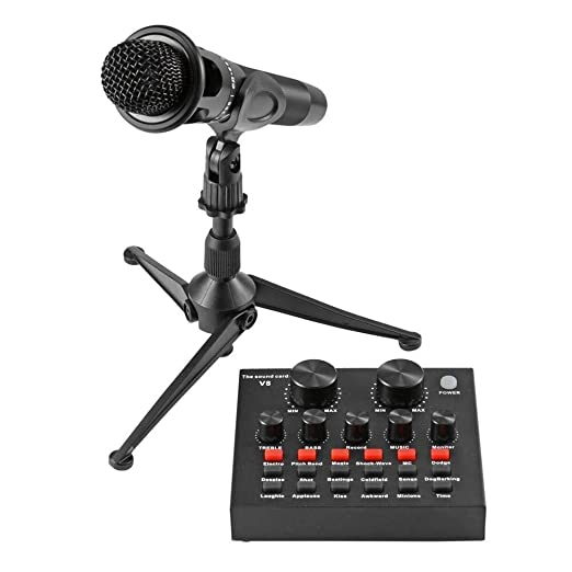 Huacaili Micrófono V8 Audio USB Auricular Micrófono Webcast ...