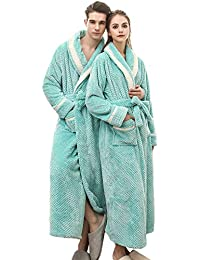 Mens Terry Robe Womens Terry Cloth Bathrobe Terry Kimono Collar House Bathrobe Brown