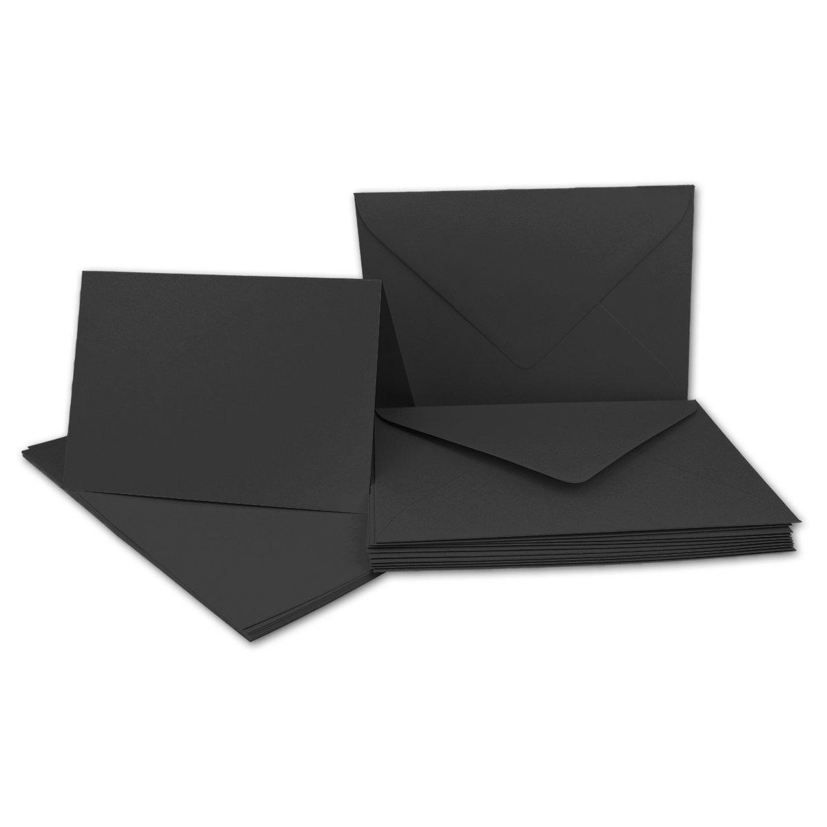Faltkarten Set mit Brief-Umschlägen DIN A6   C6 in Rosanrot   100 Sets   14,8 x 10,5 cm   Premium Qualität   Serie FarbenFroh® B07B2WDTCL | Moderate Kosten
