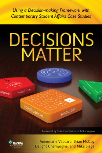 Decisions Matter Using a Decision-Making Framework with Contemporary Student Affairs Case Studies
