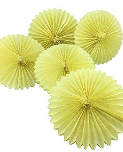yellow paper fan decor - 4