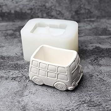 Nicole Molde de silicona para plantas suculentas Forma de coche Maceta Hecha a mano Herramienta de decoración de cemento artesanal: Amazon.es: Juguetes y ...