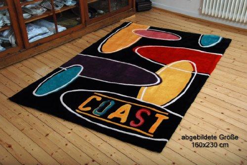 Designerteppich Coast in jungen trendigen Farben aus 100% feines Japanacryl, Maß:65x135cm Rechteck