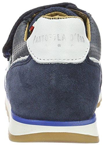 Pantofola d'Oro Canino Ragazzi Velcro Low - Zapatillas de casa Niños Azul (Dress Blues)