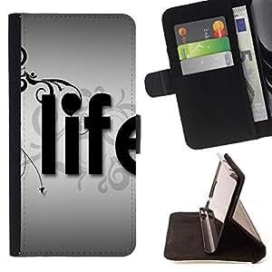 Jordan Colourful Shop -Life Kidding Funny -- Leather Case Absorciš®n cubierta de la caja de alto impacto FOR Sony Xperia Z1 M51W Z1 mini D5503 ---