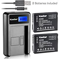 Kastar Battery (X2) & LCD Slim USB Charger for Panasonic DMW-BCG10 and Lumix DMC-ZS1, ZS3, ZS5, ZS6, ZS7, ZS8, ZS10, ZS15, ZS19, ZS20, DMC-TZ7, DMC-TZ10, DMC-TZ19, DMC-TZ20, DMC-TZ30, DMC-ZR1, DMC-ZR3