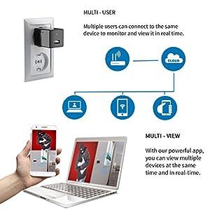 Spy Hidden Camera – Wireless Hidden Camera System– I Spy Camera System – Anti Spy Camera – Hidden Security Camera for Women Men Kids 1080p HD USB Wall Charger with WiFi