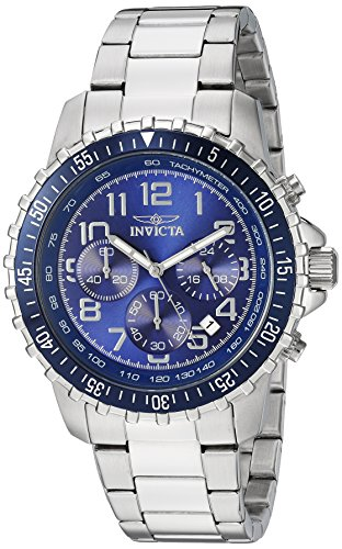 (Invicta Men's 6621 II Collection Chronograph Stainless Steel Silver/Blue Dial Watch)