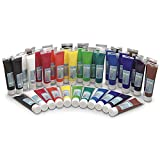 Nasco 9725881 Bulk-Krylic Acrylic Paint, 5 oz Tubes, Classroom (Pack of 40)
