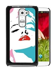 LG G2 Marilyn Monroe Black Screen Phone Case Charming and Luxury Design