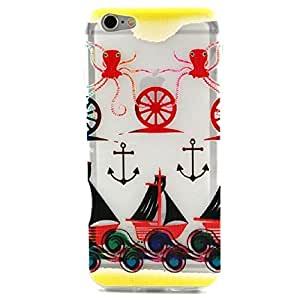 ABC? 2015,Anchor Squid Pattern Rubber Soft TPU Case Cover For Iphone 6