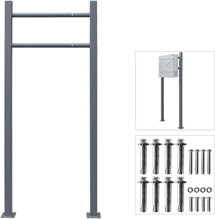 V2Aox Briefkasten Standfu/ß Briefkastenst/änder Freistehend Anthrazit Eckig Stahl