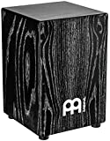 Meinl Percussion Cajon Box Drum with Internal Snares - NOT MADE IN CHINA - American White Ash Vintage Black, Full Size, 2-YEAR WARRANTY MCAJ100VBK