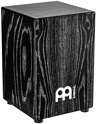 - Meinl Percussion Cajon Box Drum with Internal Snares - NOT MADE IN CHINA - American White Ash Vintage Black, Full Size, 2-YEAR WARRANTY, MCAJ100VBK)