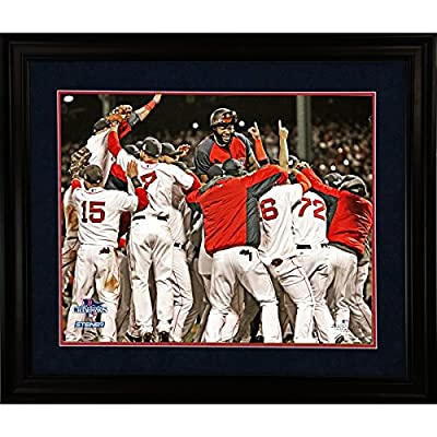 Boston Red Sox 2013 World Series Champions Celebration 8 Inches By 10 Inches Custom Framed Photo W/nameplate 11 Inch X 14 Inch Cherry 220-wm