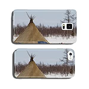 khant's wigwam standing at yamal forest tundra cell phone cover case Samsung S6