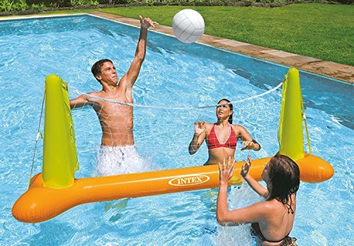 (Intex Kids Backyard Fun Play Pool Volleyball Game Slide Inflatable Center Summer Outdoor Pool Fun Swimming)