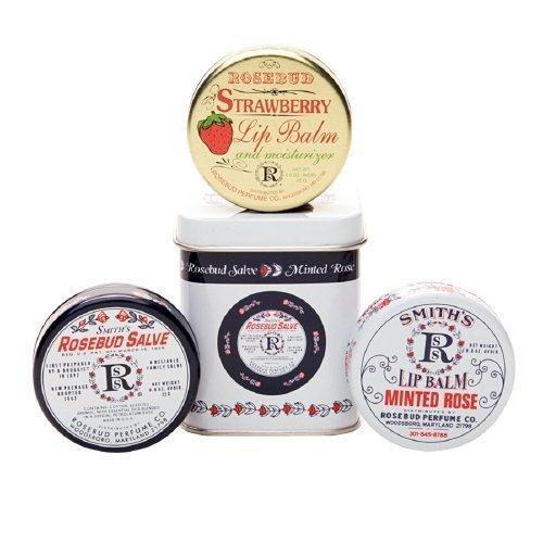 Rosebud Perfume Co. Three Lavish Layers of Lip Balm-Strawber